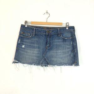 Abercrombie & Fitch Denim Distressed Mini Skirt 6